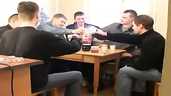 Russian MILF and six boys