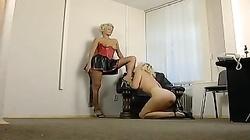Russian Lesbian Mistress in Latex