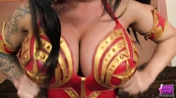 KERRY LOUISE COSPLAYS AS WONDERWOMAN AND WONDERS WHO TO FUCK