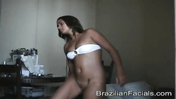 Intensive sex in the doggy style starring a slutty Brazilian babe