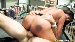 Great sex in library with a truly outstanding milf!