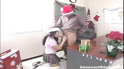 Kinky brunette is being fucked by the teacher in the video by the Innocent High