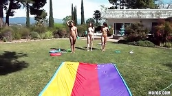 Outdoor blowjob by my lovely lustful ex-girlfriends!