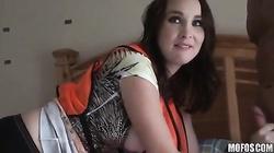 Deep penetration for a cute-looking innocent amateur girlfriend