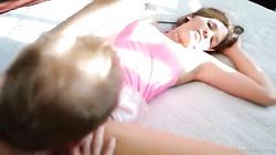 18 YO slut spreading her legs in front big cock in Teen Fidelity video