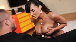 Big-breasted milf is giving a titjob in the scene by Pure Mature