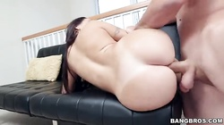 Cute big-ass slut is getting pounded deep in her tight ass