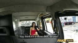 Astonishing brunette being pleased by driver like never before