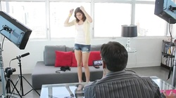 Gorgeous action with a long-legged beauty in the video by Casting Couch X