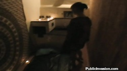 Blowjob and then pussy fucking in the dark with a stunning brunette ex