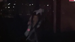 This party went wild, watch young drunk brunette giving a blowjob
