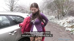 Stunning POV action with a girl from the street in the video by Public Agent