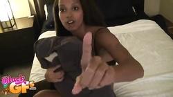 Innocent 18 YO ebony is sucking in the hot clip by Black Gfs