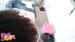 Kinky ebony is sucking juicy hard pole of her new friend