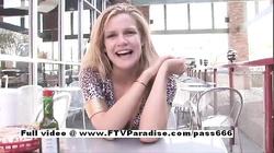 Lisa ingenious sexy blonde flashing