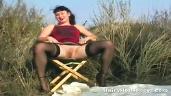 Hairy Cunt Outdoor Flashing