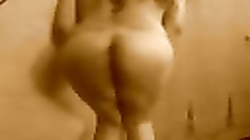 Indian wife spanking her ass