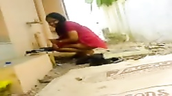 Red Shalwar Girl showing