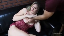 son fuck his step-mom on bed and cum inside