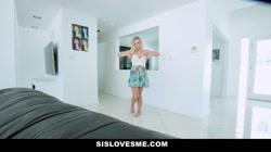 SisLovesMe - Hot Blonde Stepsis Rides Stepbros Cock