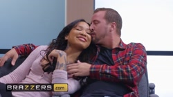 Brazzers - Big tit inked cop Anna Bell Peaks dominates ebony teen Honey Gol