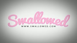 SWALLOWED Adriana Chechik and Kissa Sins tag team blowjob and cum swap