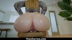 TeenCurves - Small White Girl With Phat Ass Booty Gets Fucked