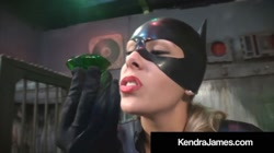 Costumed Milf Kendra James Binds & Bangs Kitty Nikki Brooks!
