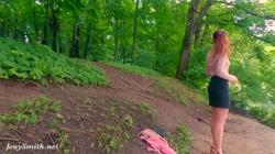 I follow his orders. Jeny Smith nude in public city park
