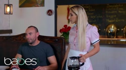 Babes - Small tit uniformed Waitress Abella Danger gets more than the tip